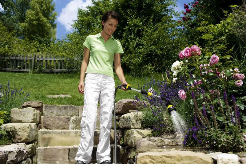 Nawadnianie - podczas podlewania wodę należy dostarczać jak najbliżej korzeni. Fot. Kärcher