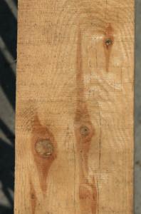 Drewno z sękami może być wykorzystane jako materiał konstrukcyjny