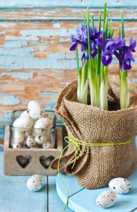 Wielkanocne dekoracje domu - pisanki, koszyczki