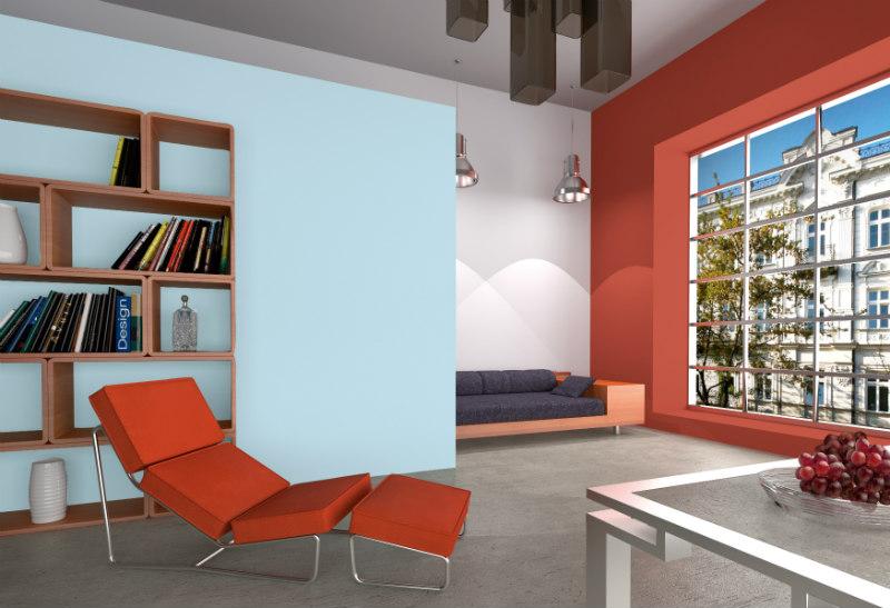Umiejętnie dobrane kolory farb pozwalają osiągnąć ciekawe efekty. Fot. Dekoral