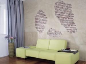 Ściana jak w lofcie DIY Majster