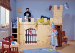 Łóżko-zamek, urządzamy pokój dziecka DIY Majster
