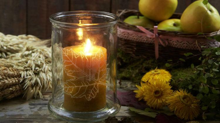 Jesienny świecznik