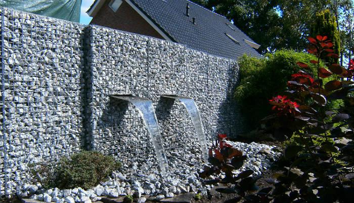 Efektowne gabiony - mury, fontanny, kaskady