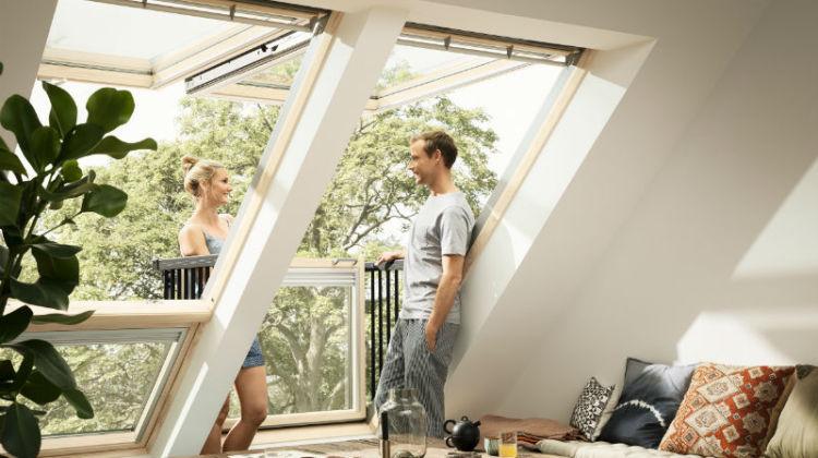 Balkon dachowy dla dwojga