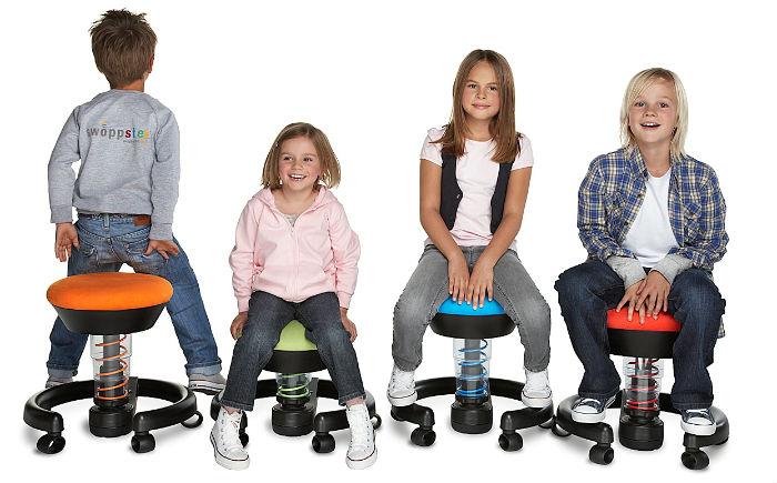 ergonomiczne meble dla dzieci - stołki Swoppster