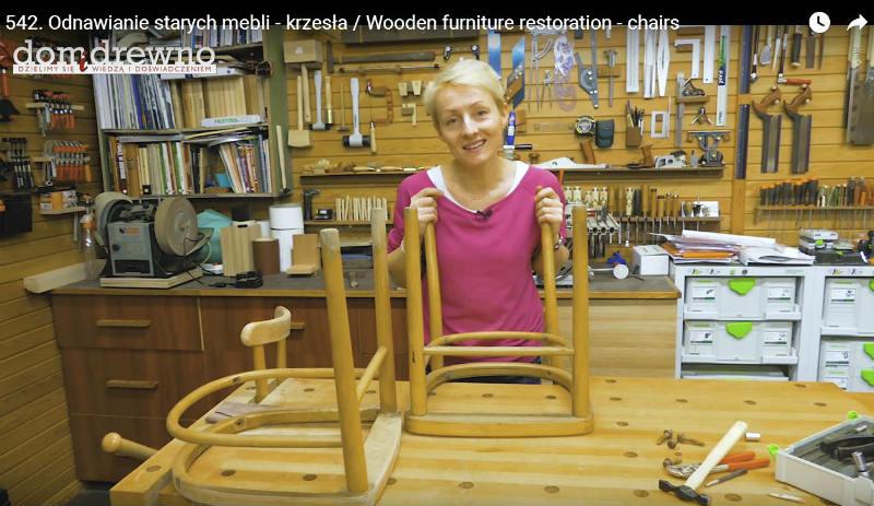 Odnawianie starych krzeseł drewnianych