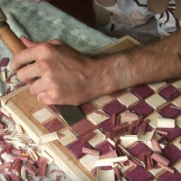 Ręcznie rzeźbione warcaby