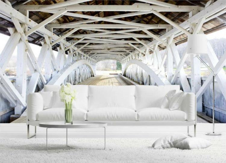 fototapeta z mostem doskonale powiększy twój pokój