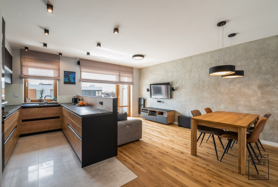 wyspa kuchenna jest elementem nalezacym do dwoch wnetrz naraz kuchni i pokoju dziennego
