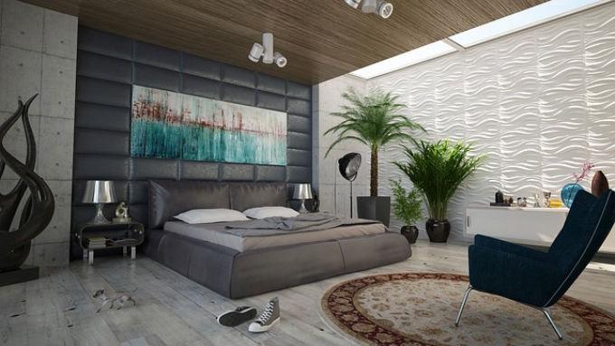 nowoczesne oświetlenie sufitowe w sypialni